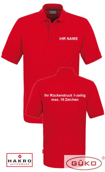 HAKRO Poloshirt mit Brusttasche inkl. Brust und Rückendruck nach Wahl