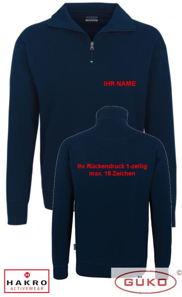 Sweatshirt tinte mit Reißverschluss