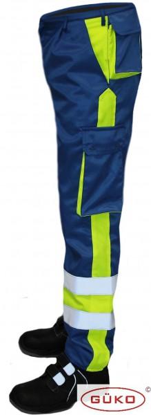 Fahrdiensthose königsblau neongelb EH18