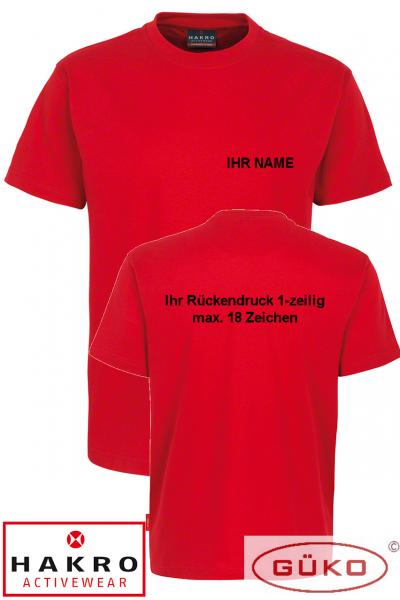 HAKRO T-Shirt rot mit Aufschrift