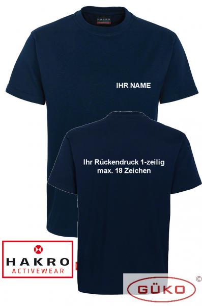 HAKRO T-Shirt Farbe tinte mit Aufschrift