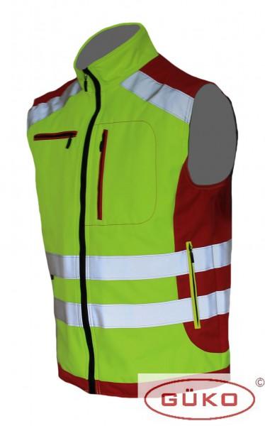Rettungsdienst-Softshellweste neongelb/rot