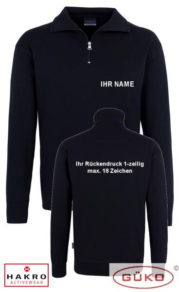 Sweatshirt schwarz mit Reißverschluss