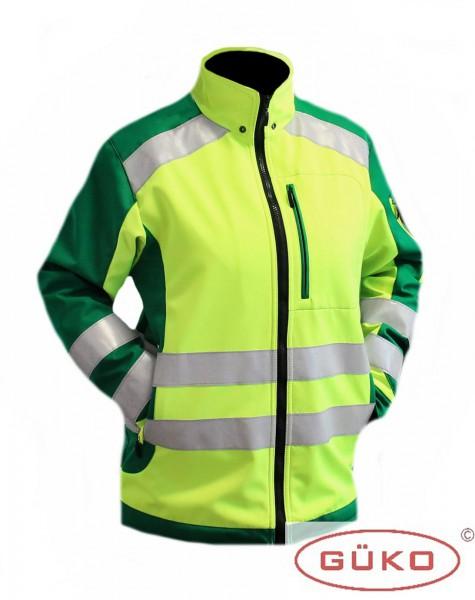Softshell Rettungsdienstjacke neongelb/grün