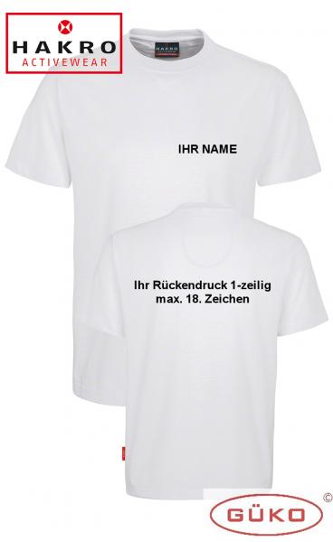 HAKRO T-Shirt weiß mit Aufschrift