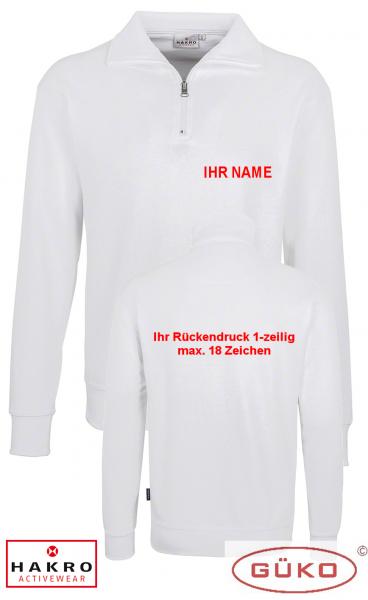 Sweatshirt mit Reißverschluss Farbe weiß